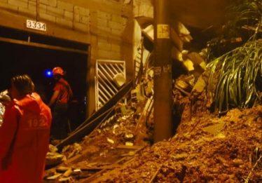 Desabamentos deixam quatro crianças mortas em Mauá, na grande SP