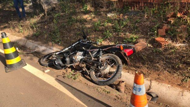 Motociclista morre em acidente no trevo de São Luís de Montes Belos