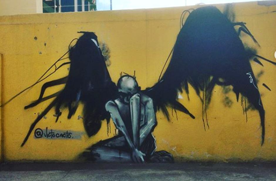Projeto incentiva arte de rua e arrecada alimentos para instituição de caridade em Goiânia