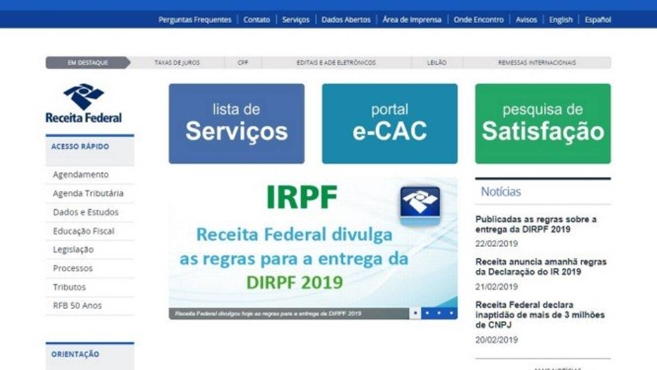 Imposto de Renda 2019: Receita libera programa para fazer a declaração