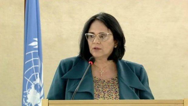 Na ONU, Damares Alves defende 'direito à vida desde a concepção'