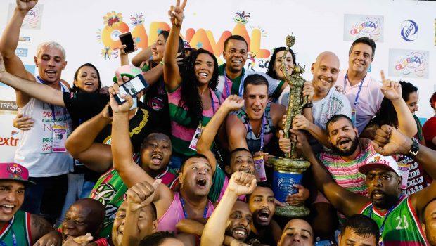 Taís Araujo, Leandra Leal, Camila Pitanga e outros famosos comemoram vitória da Mangueira