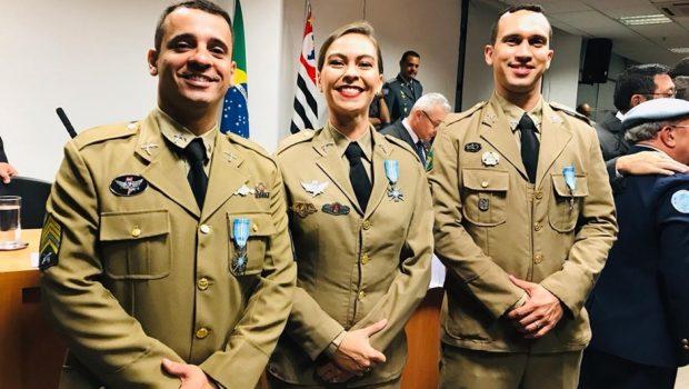 PMs de Goiás são condecorados com medalha da ONU em São Paulo