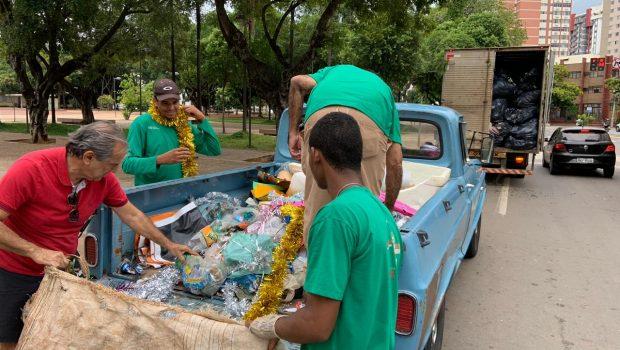 Pós-carnaval: Comurg recolhe mais de cinco toneladas de lixo em Goiânia