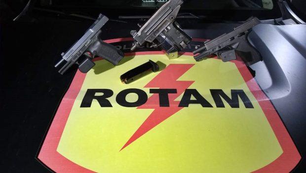 Rotam prende homem com submetralhadora e pistolas de calibre restrito em Goiânia