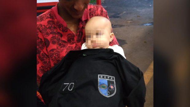Policiais militares salvam bebê de cinco meses que se engasgou com medicamento, em Goiânia