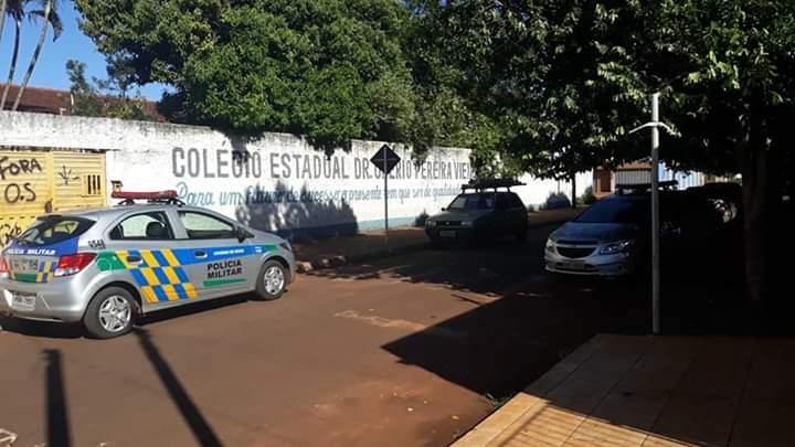 Colégio Estadual Drº Onerio Pereira Vieira emQuirinópolis (Foto: Reprodução)