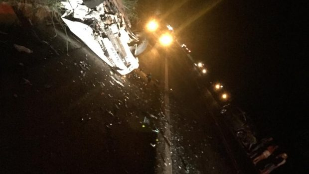 Acidente com três veículos deixa quatro feridos, na GO-060 entre Claudinápolis e Nazário