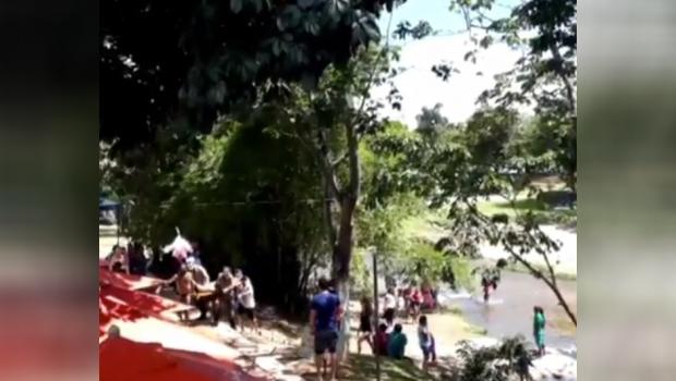 Adolescente se afoga e é internado em estado grave, em Pirenópolis