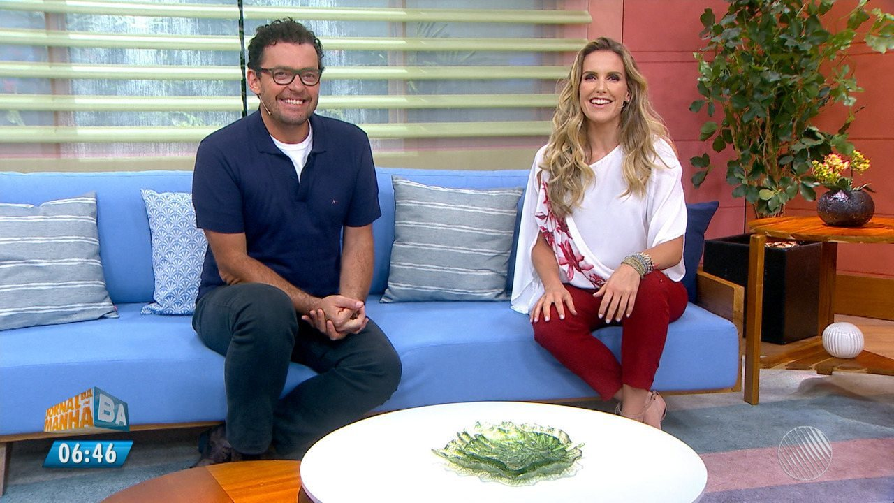 Programa Bem Estar com antigos apresentadores, Mariana Ferrão e Fernando Rocha