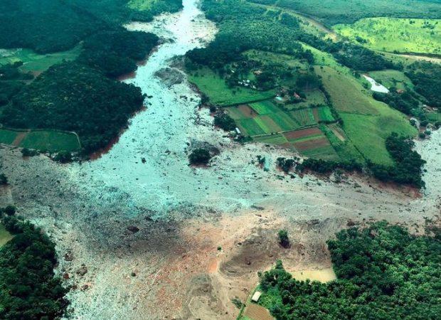 Área atingida pelo rompimento da barragem de Brumadinho (Foto: Divulgação/Presidência da República)