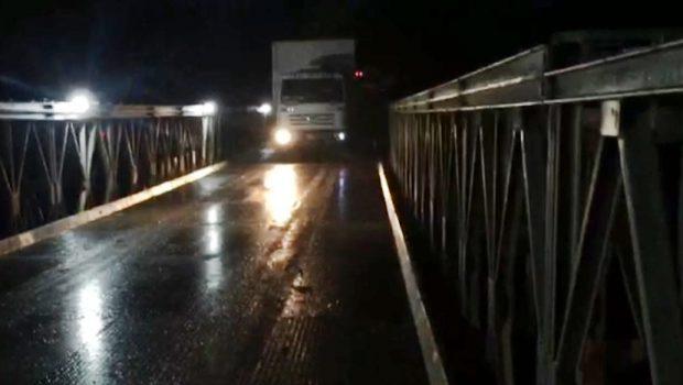 Ponte metálica cedida pelo Exército na GO-060 está liberada para tráfego