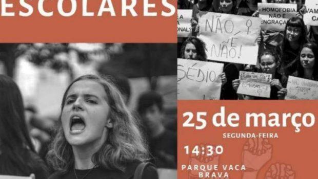 Estudantes organizam manifestação contra assédios escolares, em Goiânia
