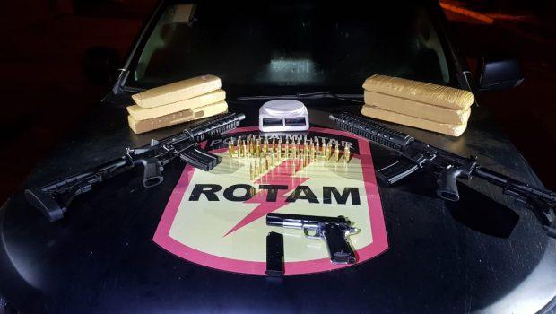 Rotam apreende armas e troca tiros com bandido, em Goiânia