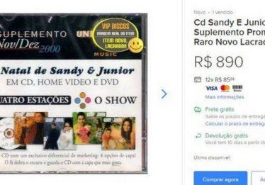 CDs de Sandy & Junior são vendidos na internet por até R$890