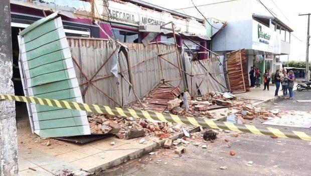 Dois homens ficam feridos após queda de marquise, em Morrinhos