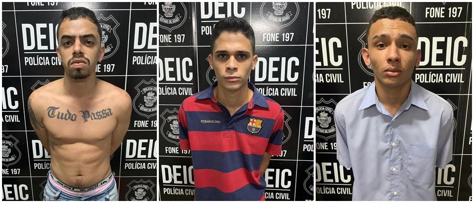 Trio é preso com explosivos que seriam usados em ataques a bancos, em Goiás