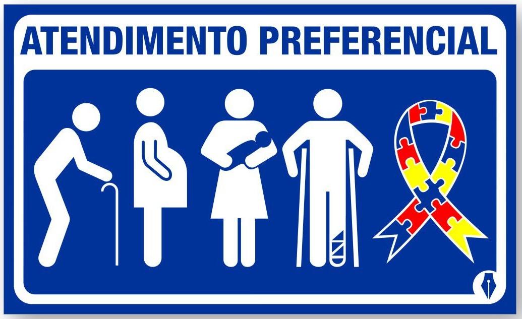 Placa com o símbolo mundial do autismo garante atendimento prioritário (Foto: Divulgação/Procon Goiás)