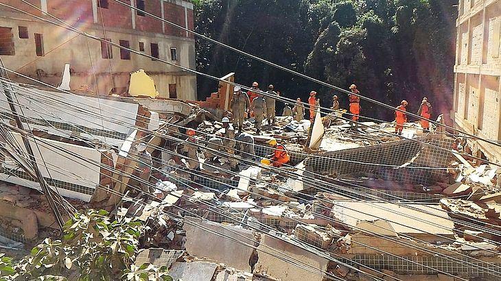 Sobe para três o número de mortos no desabamento em Muzema