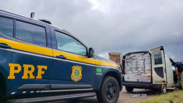 Cigarros contrabandeados são apreendidos na BR-153, em Goiânia