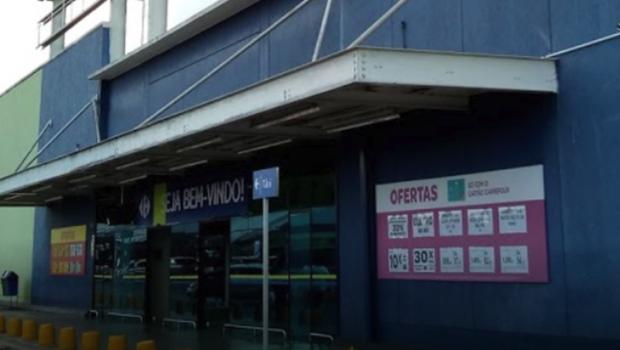 Homem cai de telhado em supermercado na avenida T-9, em Goiânia