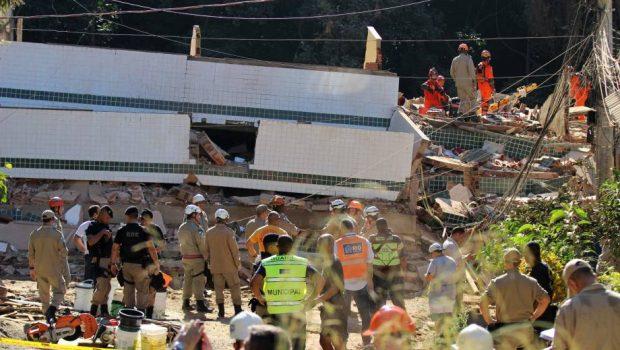 Sobe para 7 o número de mortos em desabamento de prédios no Rio