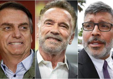 Alexandre Frota entrega 'homenagem' de Bolsonaro a Arnold Schwarzenegger
