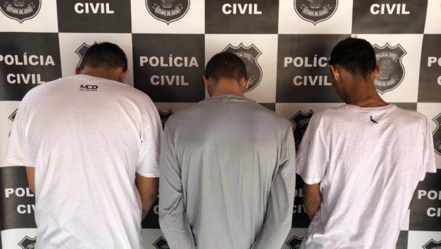Preso trio que tentou executar rivais em bar de Caldas Novas