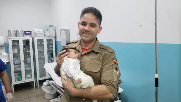 Bebê que havia se engasgado com remédio é resgatada, em São Miguel do Araguaia