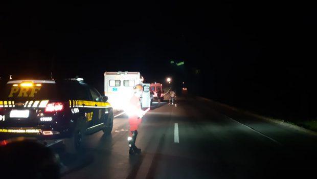 Dois homens morrem atropelados na noite desta sexta-feira na BR-153, em Goiás