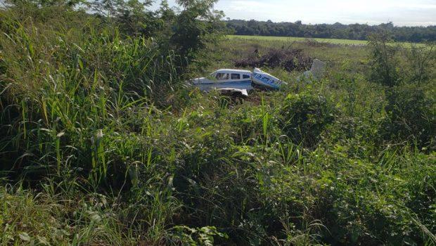Avião com irmão e advogado de Marconi Perillo cai após pane, em Mato Grosso