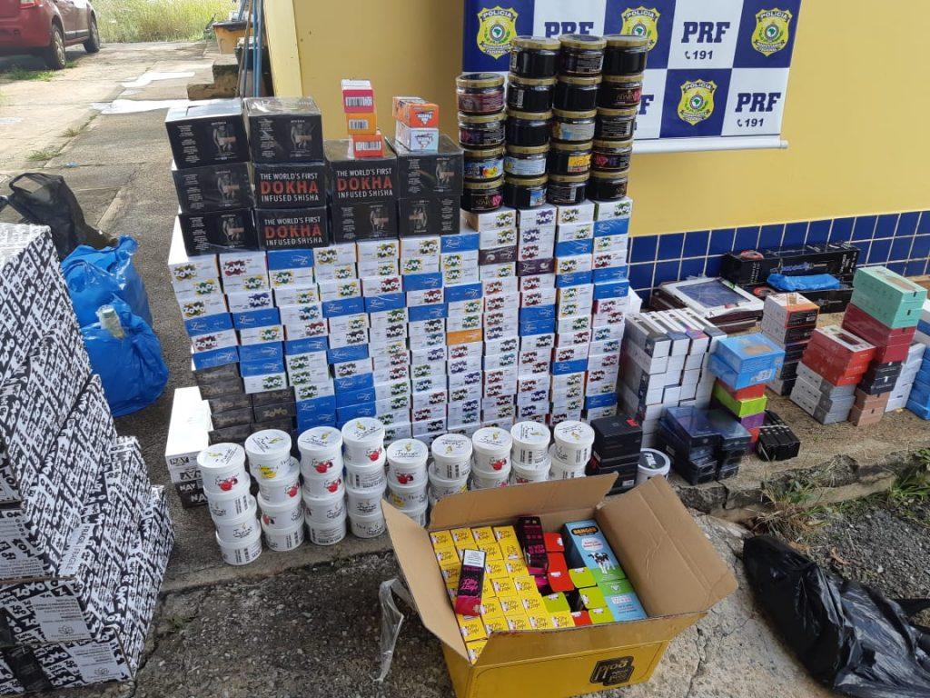 PRF apreende R$ 50 mil em mercadorias contrabandeadas e descaminhadas em Cristalina
