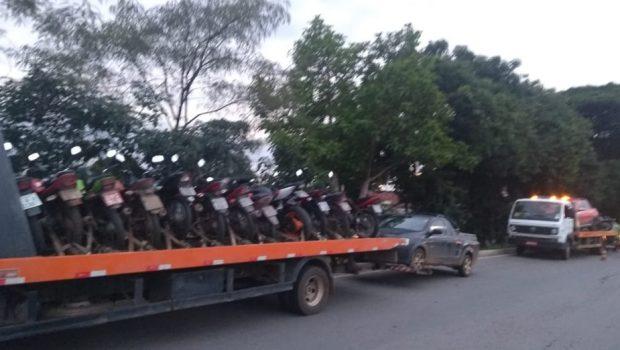 Fiscalização apreende mais de 50 motocicletas em situação irregular em Goiânia