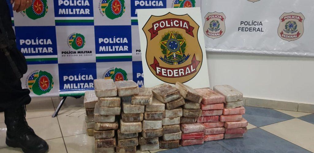Carga de pasta base de cocaína avaliada em R$ 2 mi é apreendida em Itaberaí