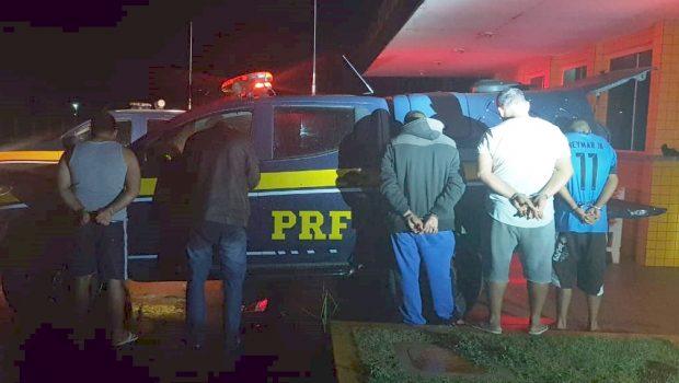 PRF frustra assalto a caminhão com carnes e libera refém em Jataí; 5 foram detidos