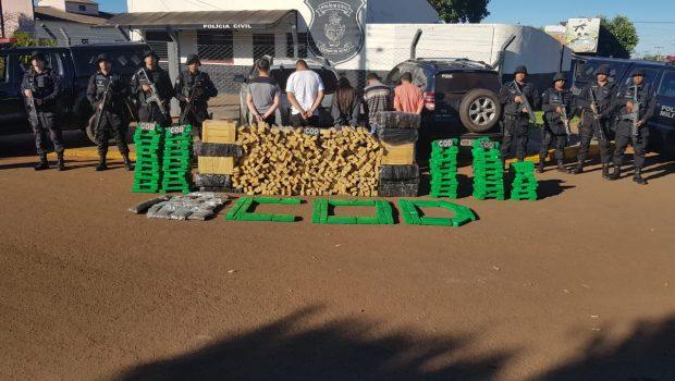 Grupo é detido com 700 quilos de maconha na GO-050, em Chapadão do Céu