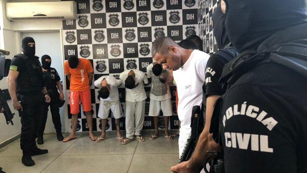 Presos suspeitos de 30 assassinatos praticados no ano passado em Goiânia