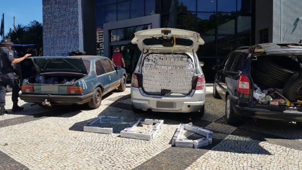 Três veículos são apreendidos com produtos contrabandeados em Aparecida de Goiânia
