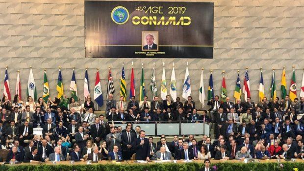 """""""Será que não 'tá' na hora de termo um ministro do STF evangélico?"""", questiona Bolsonaro na Assembleia de Deus, em Goiânia"""