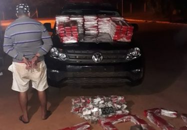 Foragido é preso com 214 quilos de maconha na GO-516, em Perolândia