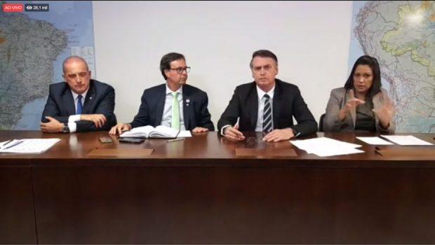 """""""Devemos aprovar a MP 870 como veio da Câmara"""", diz Bolsonaro"""