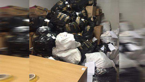 Homem é preso com quatro mil pares de tênis falsificados na Região da 44, em Goiânia