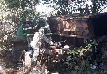 Grave acidente na GO-532 mata três funcionários da prefeitura de Niquelândia
