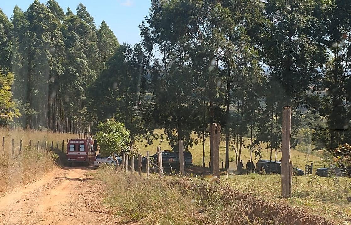 Propriedade rural foi palco de confronto entre PM e ex-PMs (Foto: Reprodução)