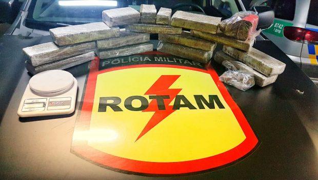Preso suspeito de tráfico de drogas com R$ 20 mil em maconha, no Alto da Glória, em Goiânia