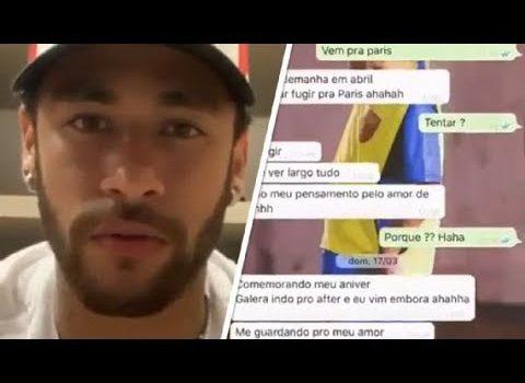 Neymar rebate acusação de estupro e expõe conversa íntima com acusadora