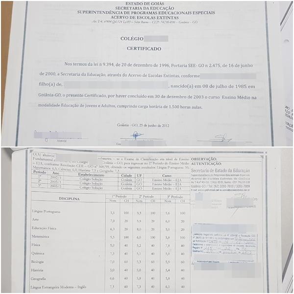 Certificados eram vendidos pela internet e custavam em torno de R$ 500 (Fotos: Divulgação/Polícia Civil)