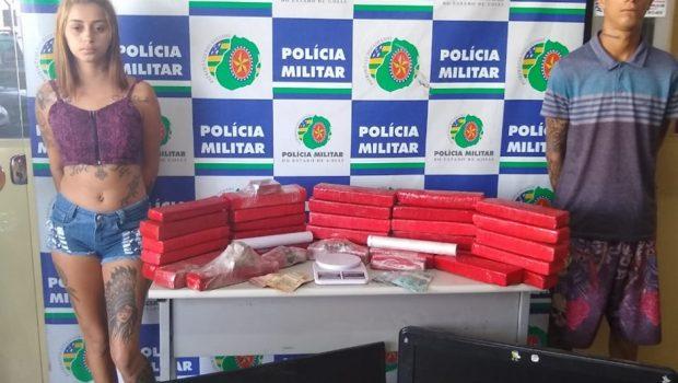 Dois são presos e mais de 30 kg de maconha são apreendidos, em Goiânia