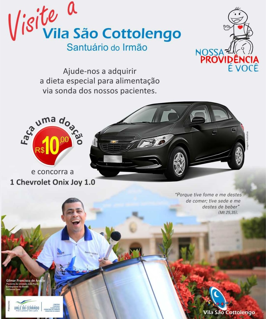 """Campanha """"Nossa Providência é Você"""" da Vila São Cottolengo (Foto: Divulgação)"""