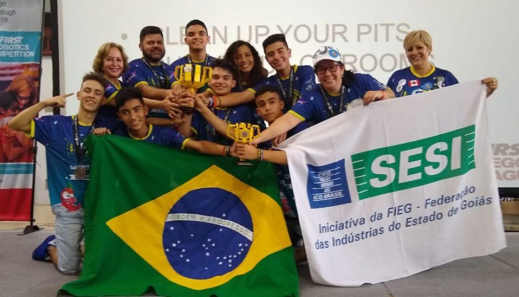 Equipe goiana ganhou campeonato internacional da Nasa (Foto: Divulgação)